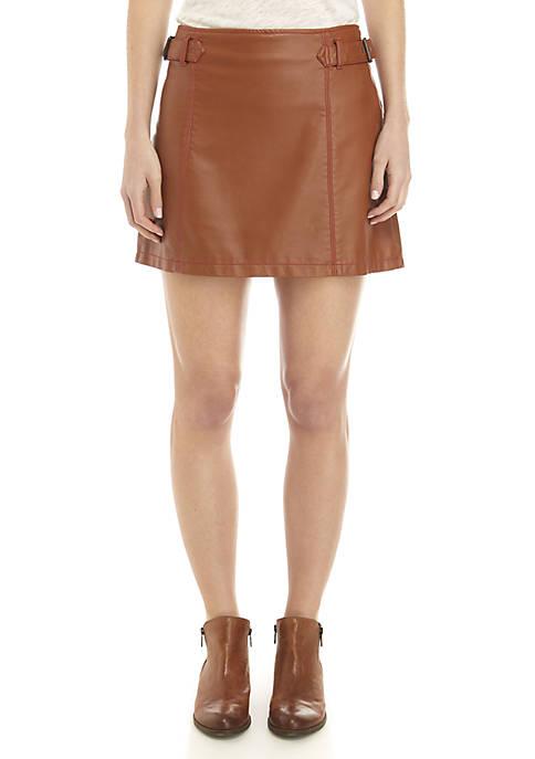Free People Charli Vegan A Line Skirt