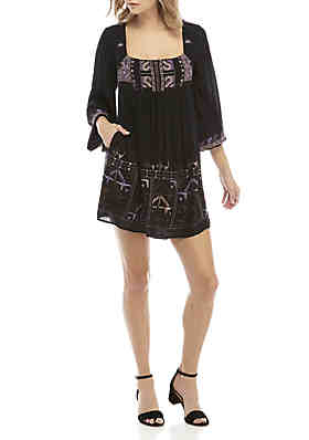 e821a50937e Free People Rhiannon Embroidered Mini Dress ...