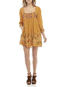 Rhiannon Embroidered Mini Dress