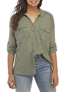 Free People Penelope Button Down Top