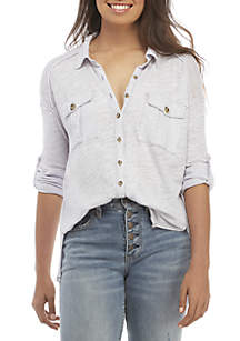 Penelope Button Down Top