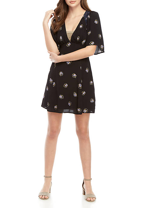 Free People Mocking Bird Mini Dress