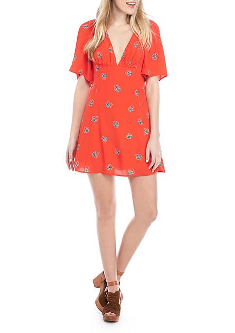 Free People Mocking Bird Mini Dress