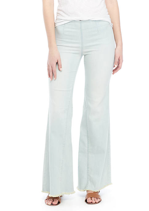 Free People Drapey A-Line Pull On Jeans