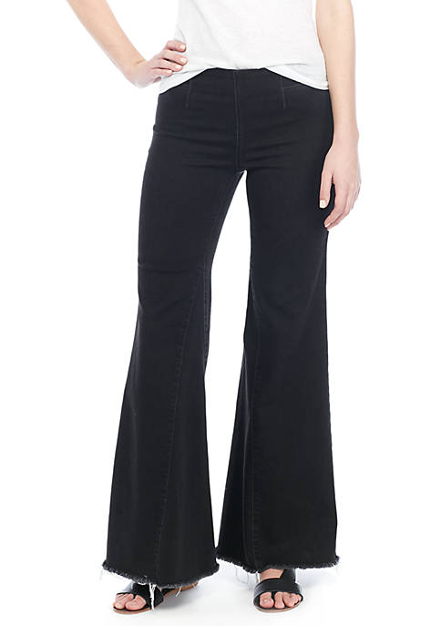 Free People Drapey A Line Pull On Jeans