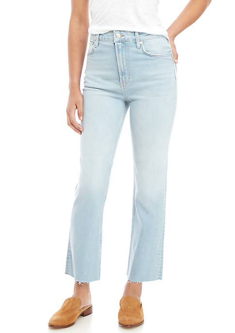 Free People High Rise Slim Straight Pants