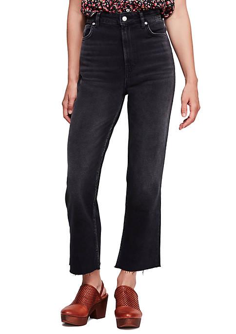 High Slim Straight Jeans