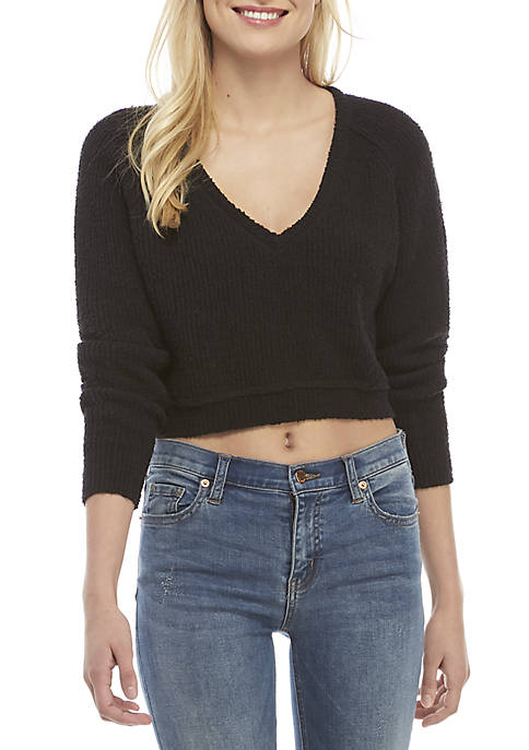 High Low V-Neck Sweater