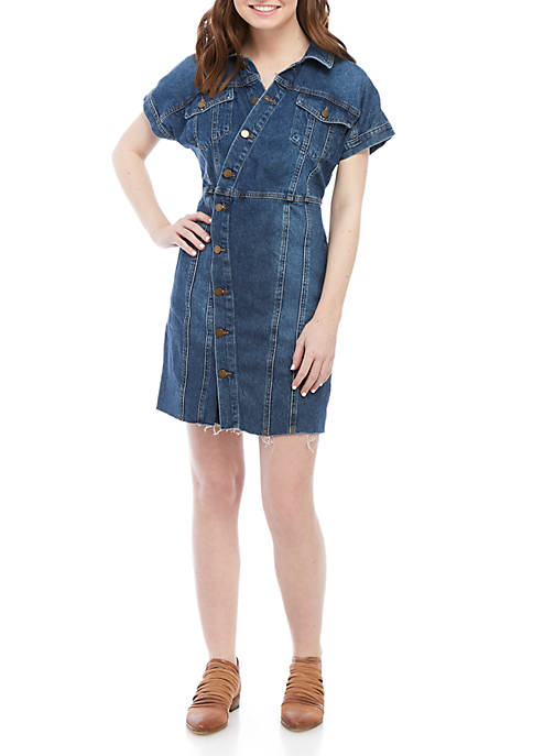 Free People Denim City Mini Dress