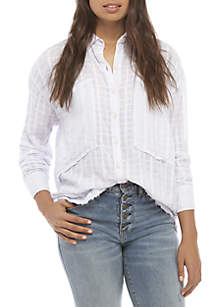 Free People Loveland Button Down Top