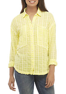 b9a3fc74c ... Free People Loveland Button Down Top