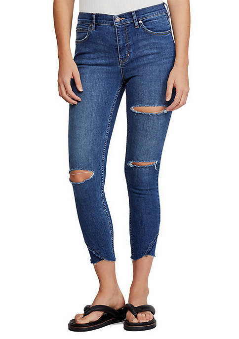 Free People Sunny Midrise Skinny Fit Jeans