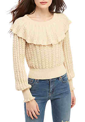 ca172d4d3 Free People Crazy In Love Ruffle Sweater ...