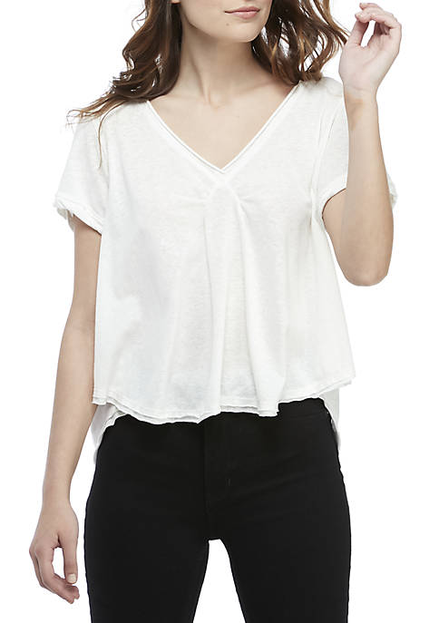 Free People All You Need V-Neck Tee