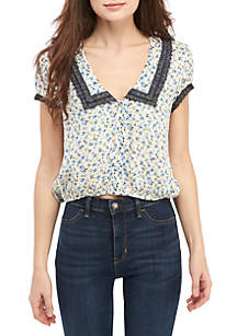 Free People The Ana Printed Blouse