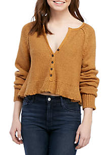 Free People Henley Sweetheart Sweater