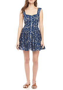 Free People Dance on the Black Top Dress