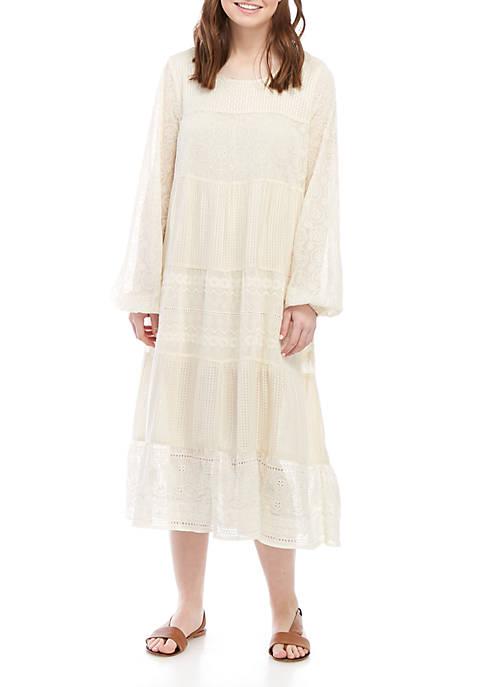 Free People Gemma Midi Eyelet Dress