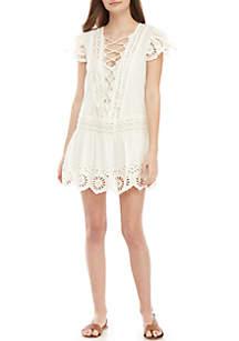 d65e70e49ed ... Free People Esperanza Eyelet Mini Dress