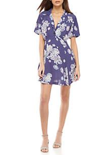 Free People Blue Hawaii Mini Dress
