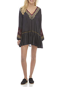 Wild One Embroidered Mini Dress