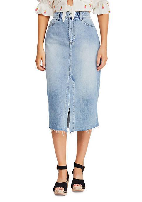 Free People Wilshire Denim Skirt