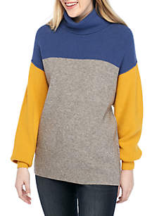 Free People Softly Structured Color Block Sweater