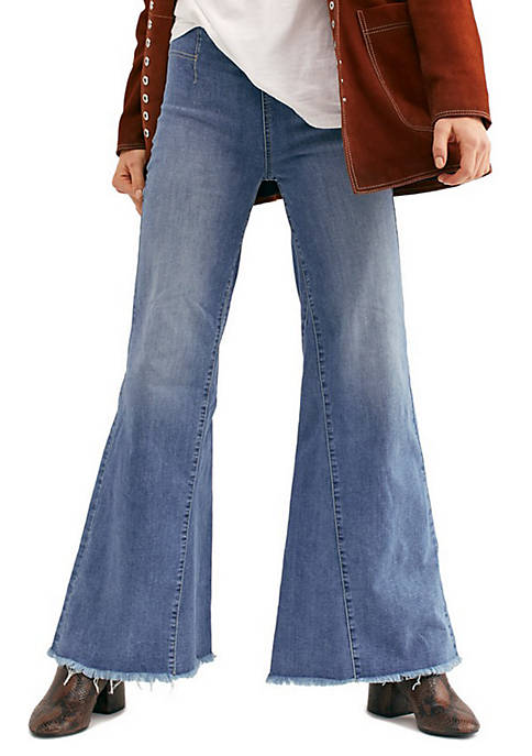 Free People Drapey A Line Bell Bottom Jeans