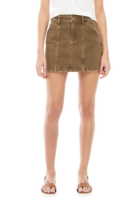 Free People Lennox Seamed A-Line Mini Skirt