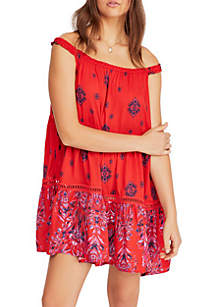 Free People Talk to Me Trapeze Dress