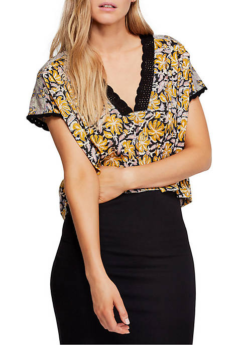 Free People Leilani Floral Printed Top