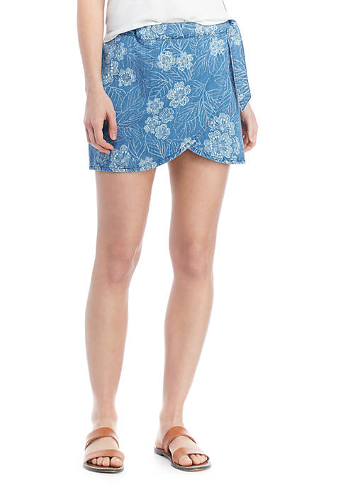 Free People Ann Reed Wrap Skirt
