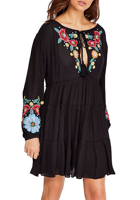 Spell On You Embroidered Mini Dress