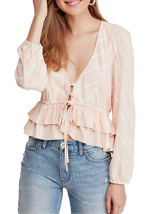 Free People Samifran Long Sleeve Top