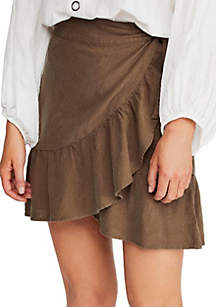 175f1c4e1cd7 ... Free People Ruffle My Feathers Mini Skirt