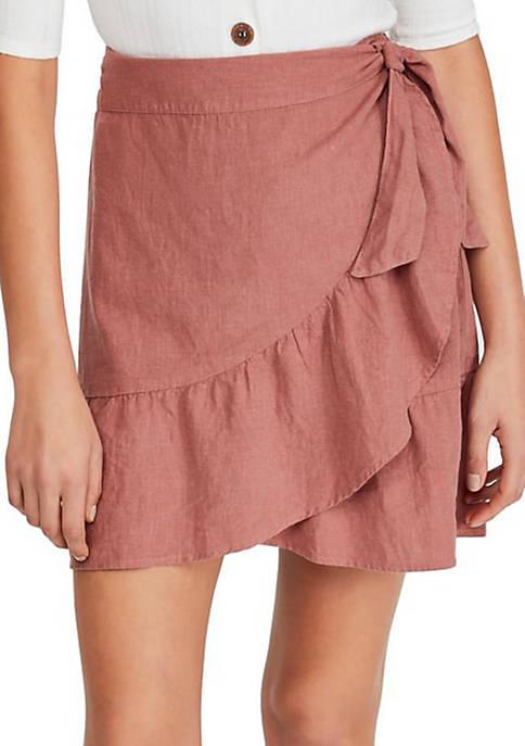 Free People Ruffle My Feathers Mini Skirt