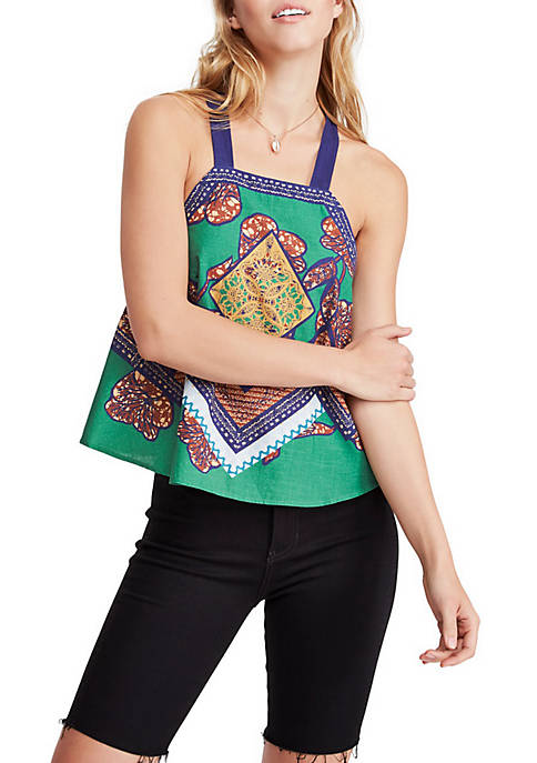 Free People Cool Cabana Embroidered Tank