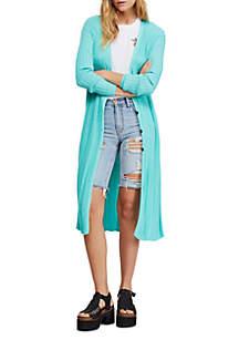 Free People Skinny Midi Cardigan Sweater