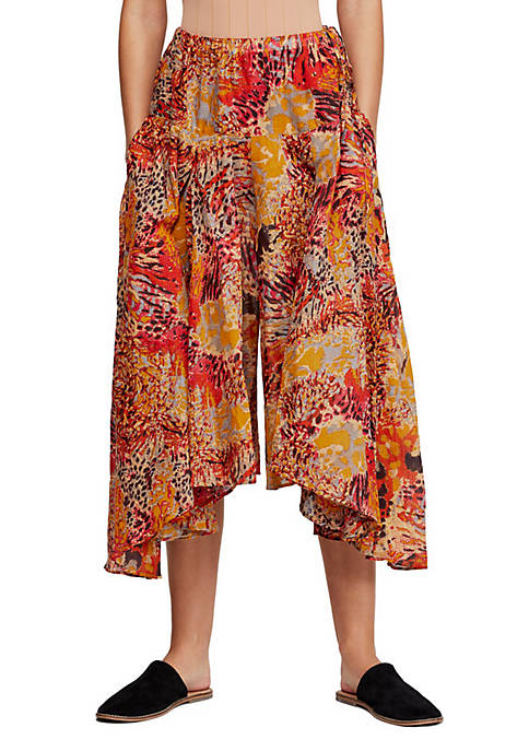 Free People Fallon Printed Wide Leg Pants