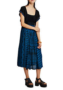 Free People In Search Of Paradise Midi Dress