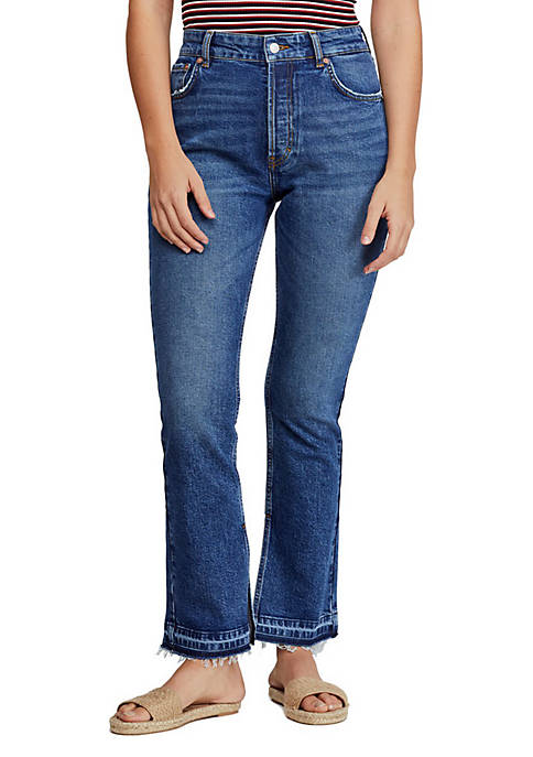 Free People Emmy Split Hem Boot Cut Jeans