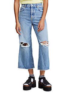 Free People Ranger Denim Wide Leg Crop Jeans