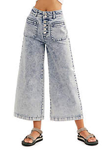 Free People Colette Wide Leg Jeans