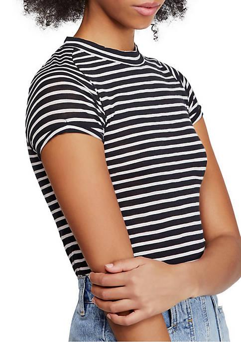 Free People Night Sky Stripe T Shirt