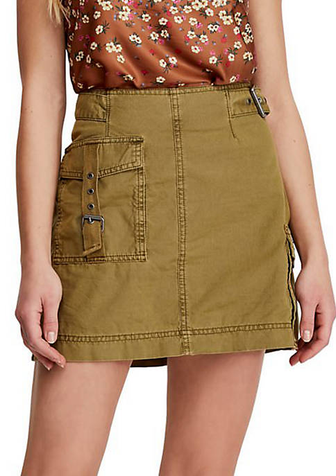 Free People Erika Utility Skirt