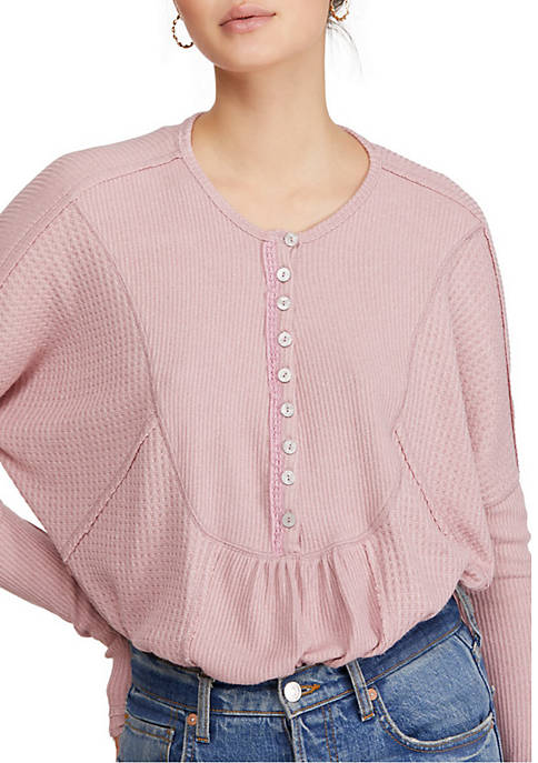 Free People Leo Henley Top