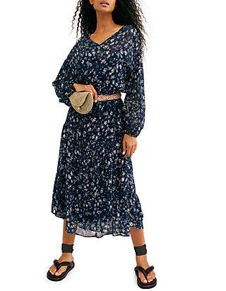 Free People Wallflower Midi Dress Belk