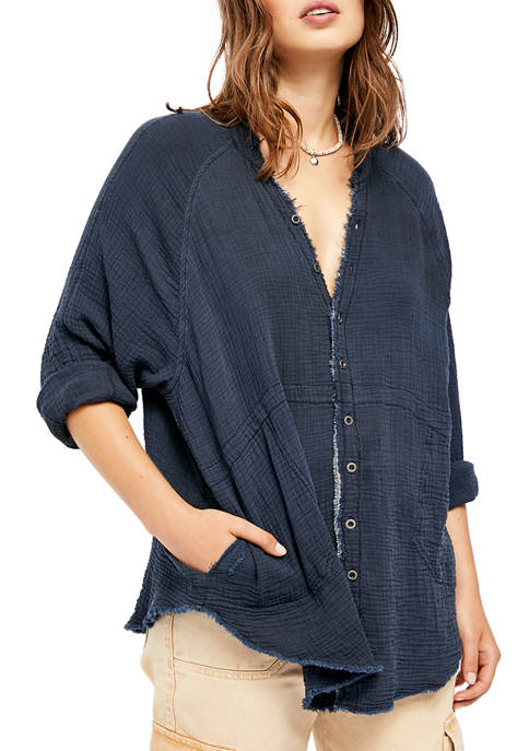 Free People Summer Daydream Button Down Top