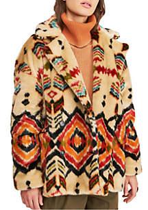 Free People Carmella Fur Jacket