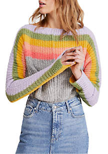 Free People See The Rainbow Sweater